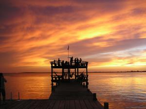 The sun sets over Alton's Dock